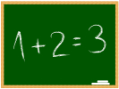 Equation on chalkboard